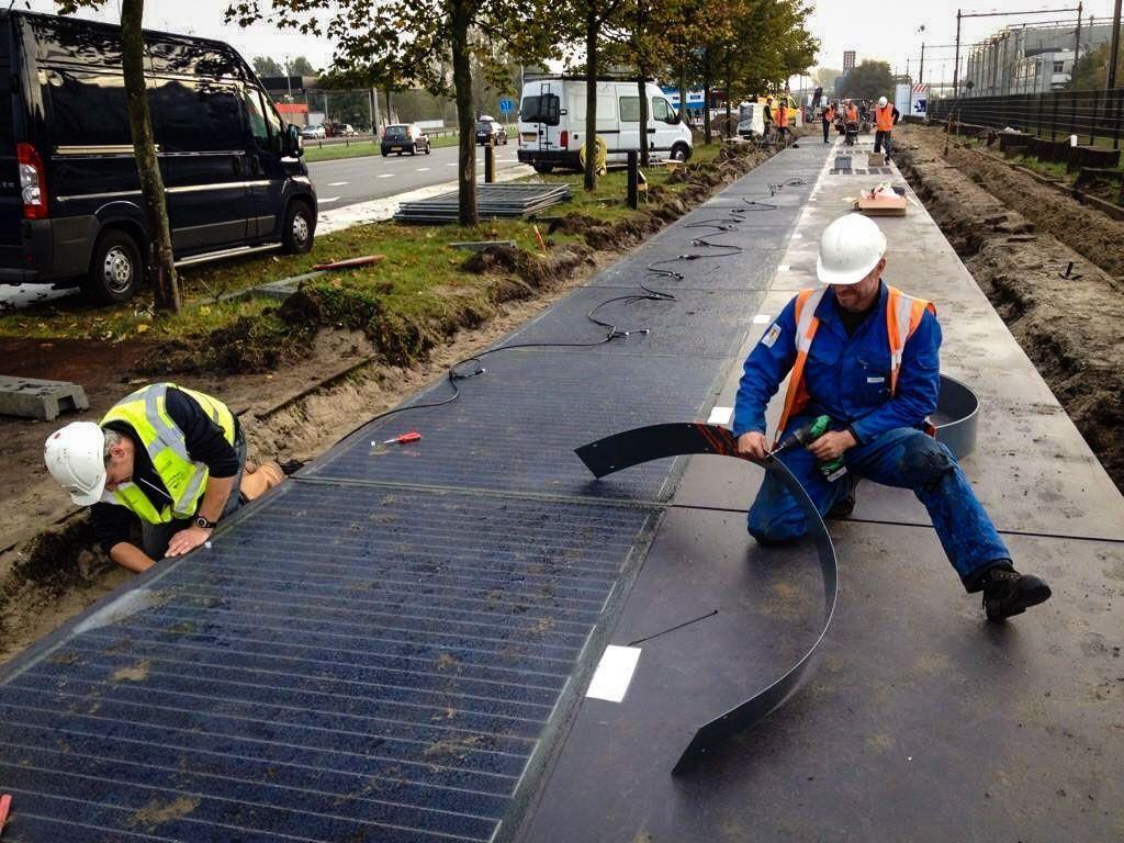 Solar Panel Bike Lanes