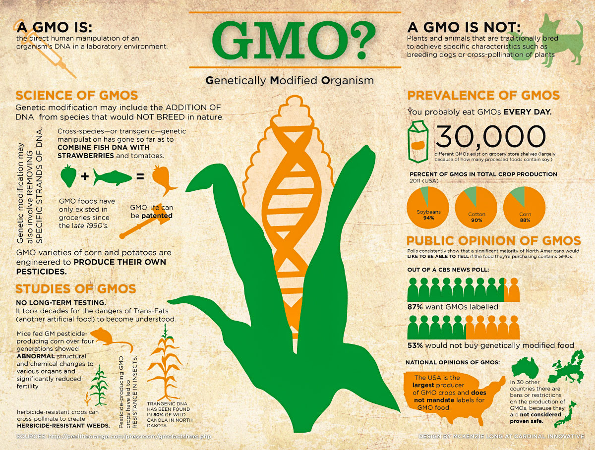 how to know if produce is gmo