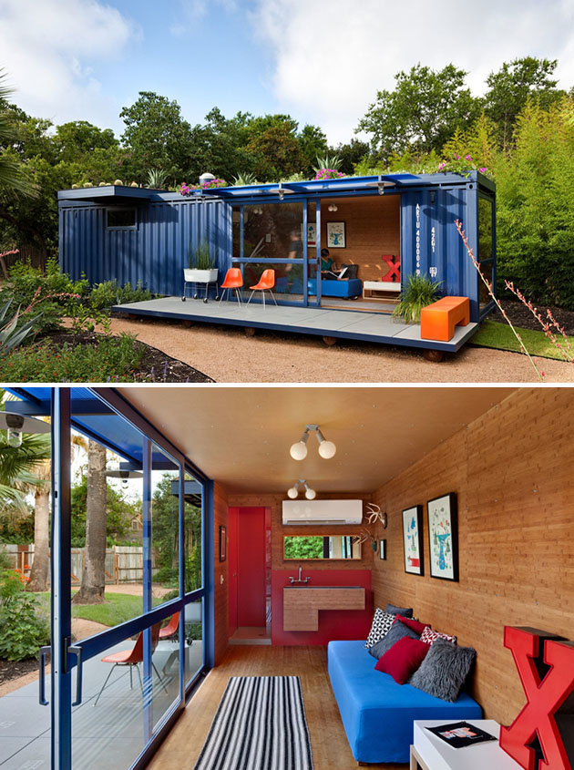 You could build a luxury tiny house with shipping containers for