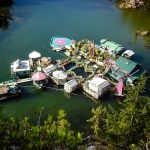 This family lives on a floating fortress of greenhouses in the middle of the ocean