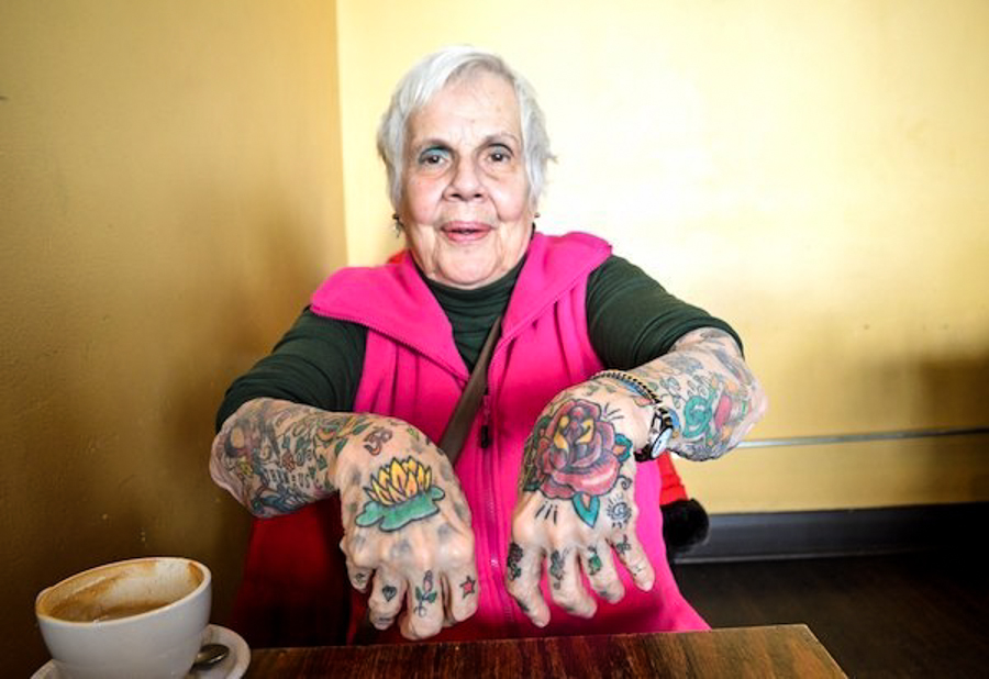 Tattooed seniors answer the question but what will you for Tattoos on old saggy skin