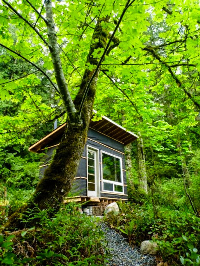 This man built a tiny home in the pacific northwest for Pacific northwest homes