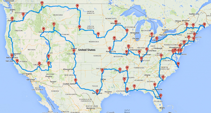 Us Driving Map With States And Cities - Us-road-maps-with-states-and-cities