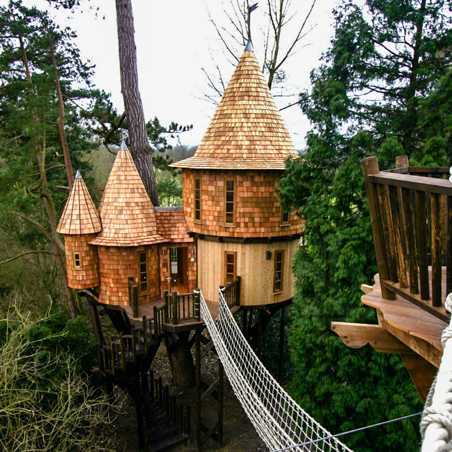 This Modern Family Lives In A Treehouse With Trapdoors And