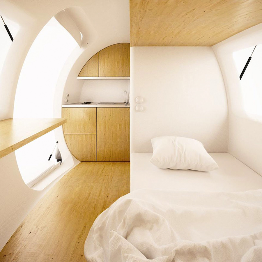 Ecocapsule is a portable, completely self-sustaining home that ...