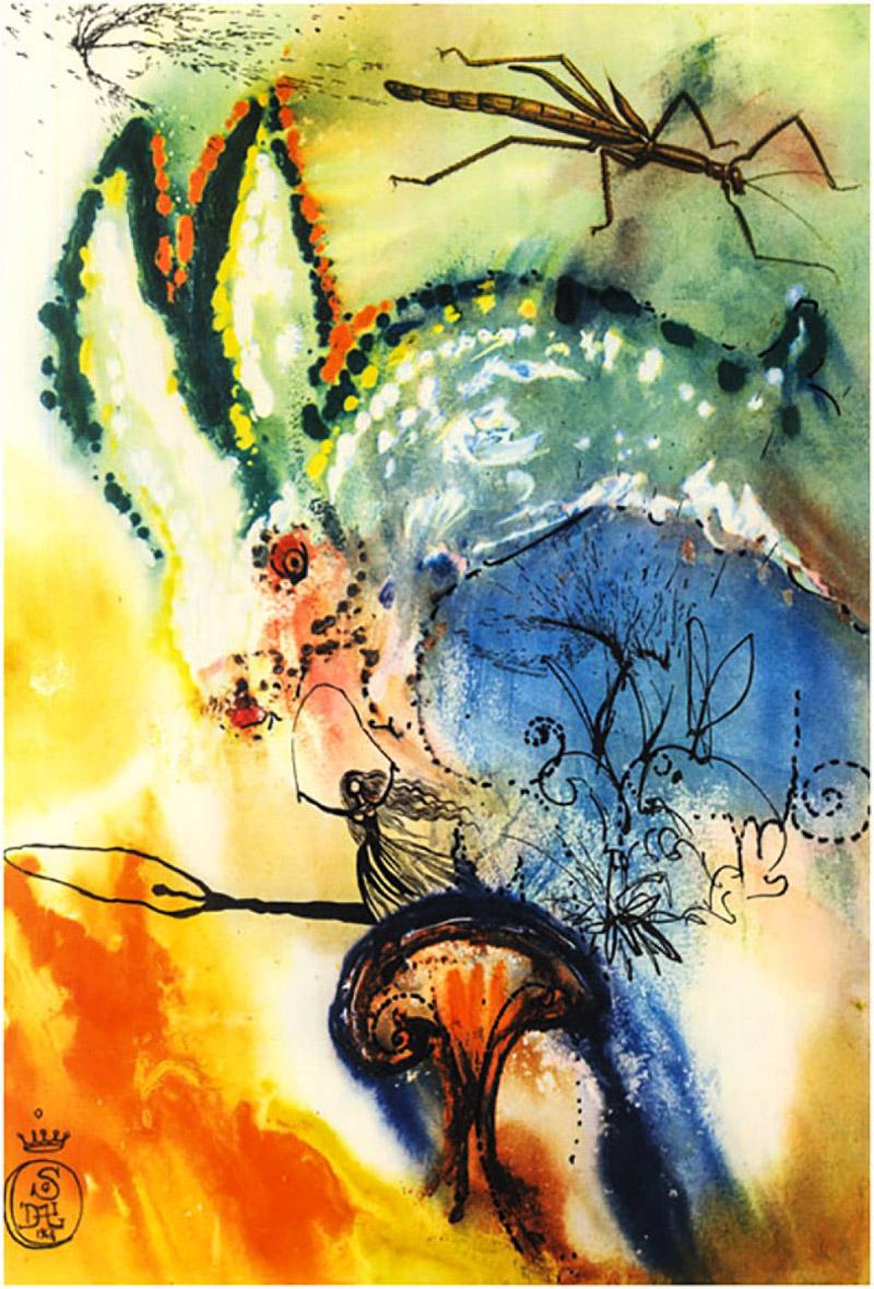 alice in wonderland book illustrated by salvador dali