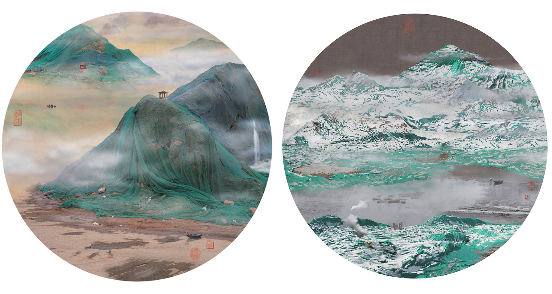 0_traditional Chinese landscapes Garbage