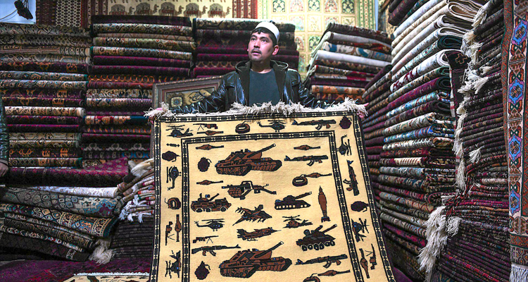 1_Afghan weavers silent protest