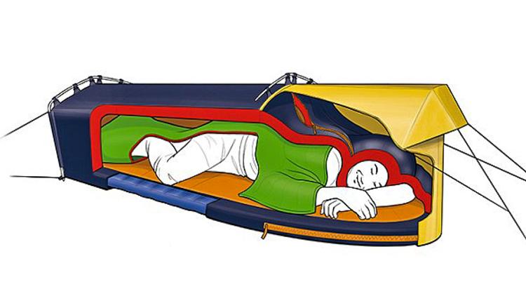 3_sleeping bag and tent hybrid