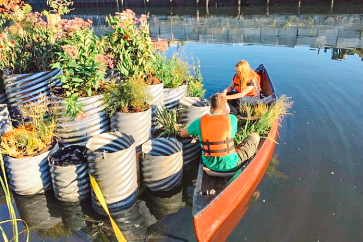 5_polluted waterway tiny floating garden