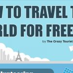 This infographic shows the easiest ways to beat the system and travel the world for free