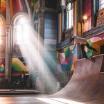 100-year-old church is transformed into a psychedelic art-covered skate park