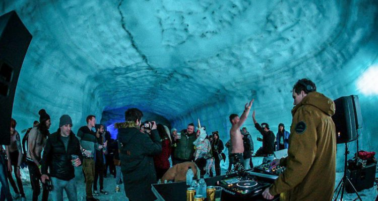 1_party inside a glacier Iceland