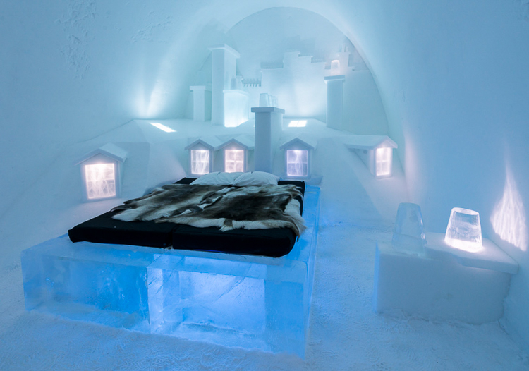 sweden just unveiled their new ice hotel and it s a stunning crystal wonderland photos. Black Bedroom Furniture Sets. Home Design Ideas