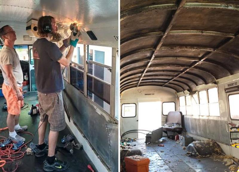 3_School bus converted into RV