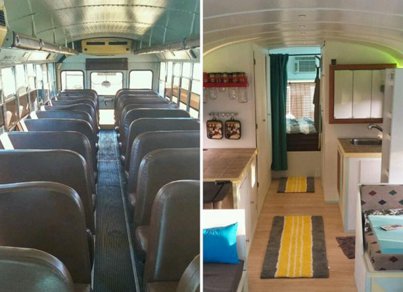 4_School bus converted into RV