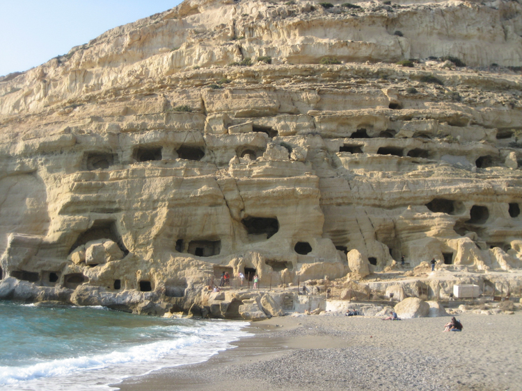 2_hippie caves of Matala that Joni Mitchell called home