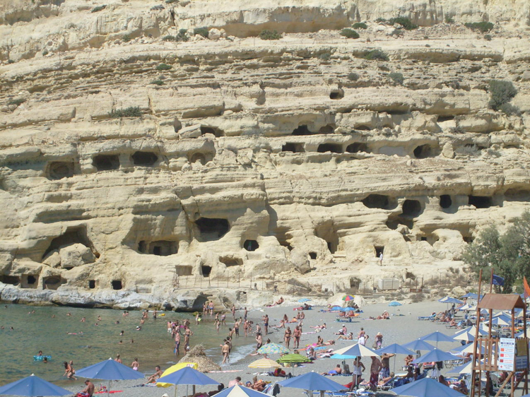 3_hippie caves of Matala that Joni Mitchell called home