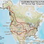 This climatologist mapped the ideal North American road-trip for an endless summer