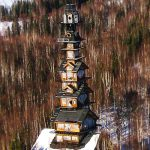 The unusual 'Dr. Seuss House' that overlooks North America's tallest mountain