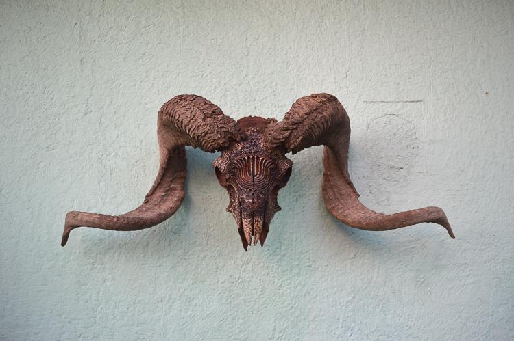 8_Artist uses bones and skulls