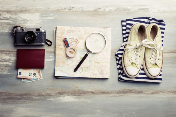 Traveling kit for tourists