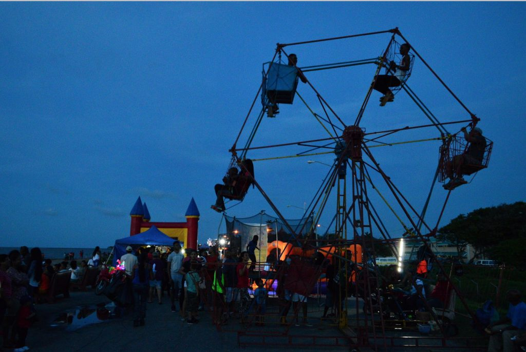 Sunday night fair along the seawall in Georgetown.