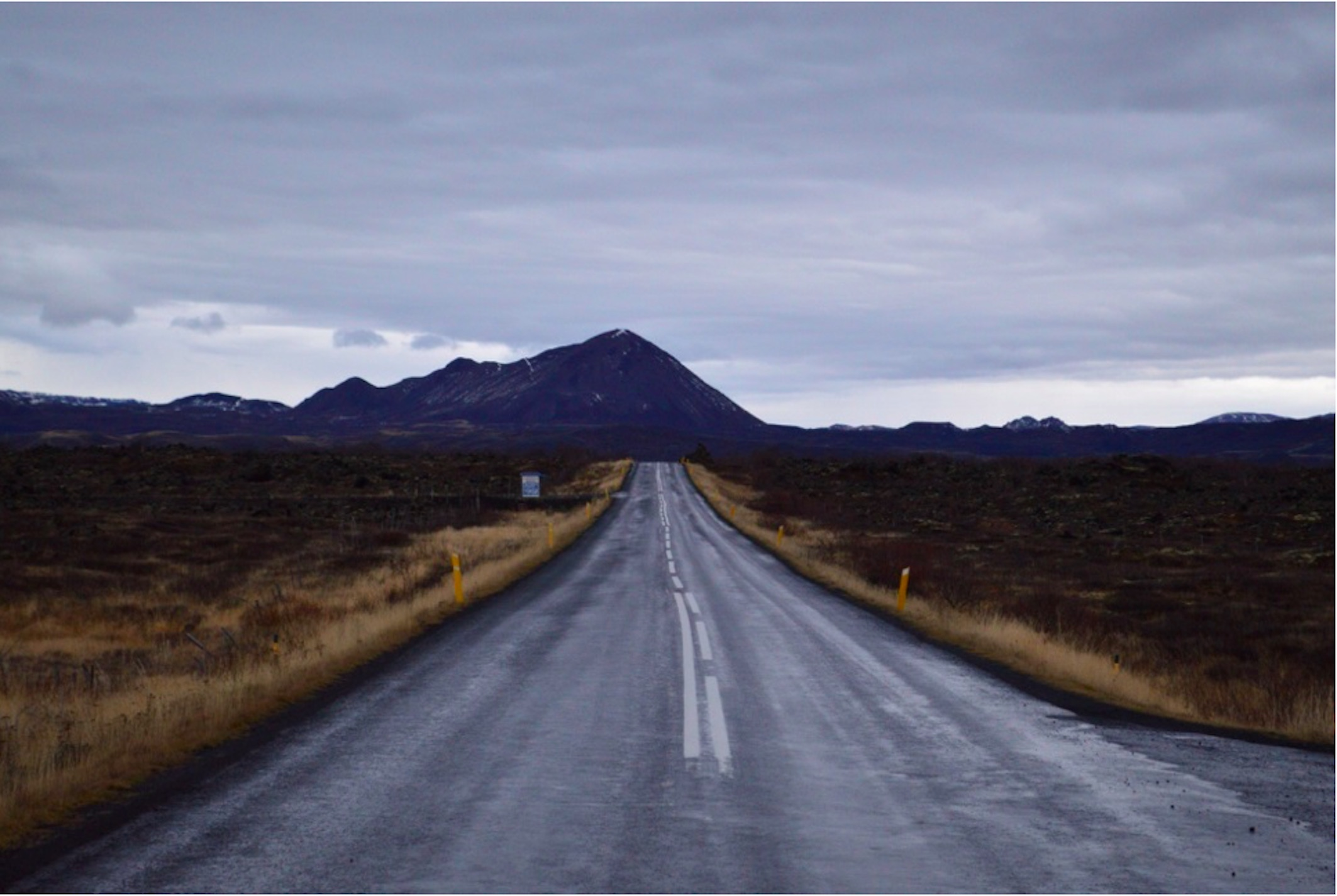 The Ring Road at the turnoff to Dimmuborgir.