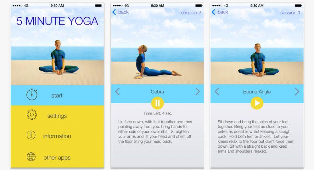 5-minute-yoga app