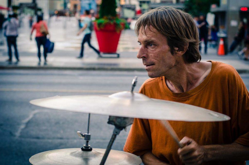 Peter Richards Street Drummer