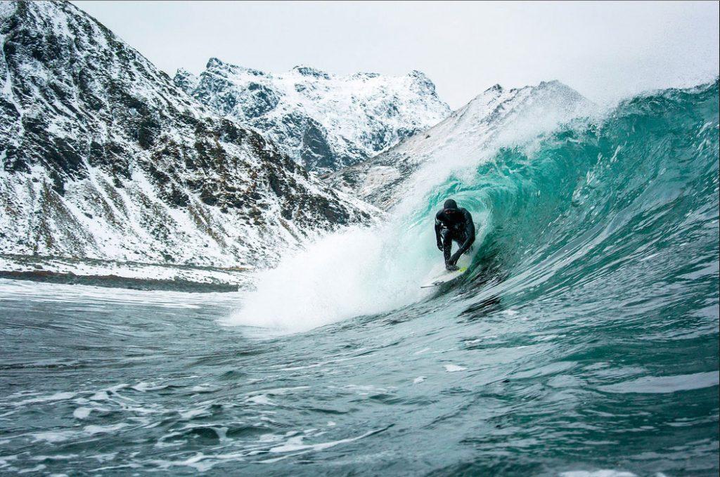 Surfers Arctic Swells
