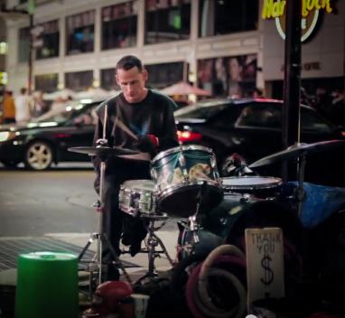 5_ bucket drummer