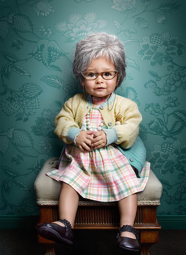 these babies dressed as senior citizens will complete your