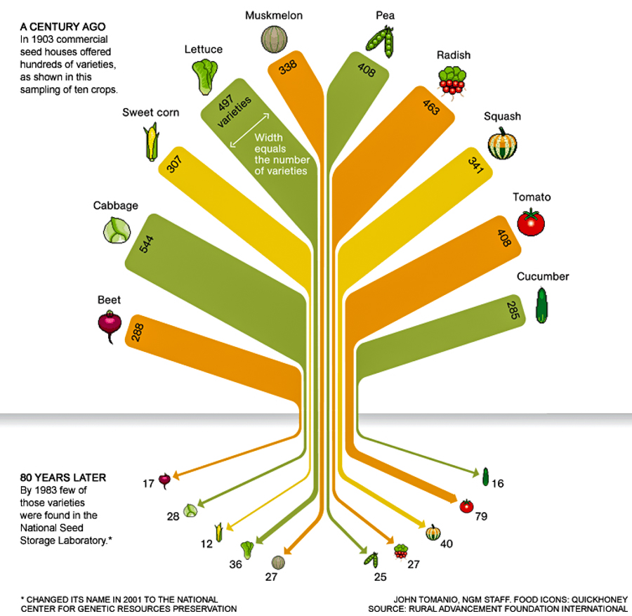 3_food crops are becoming extinct