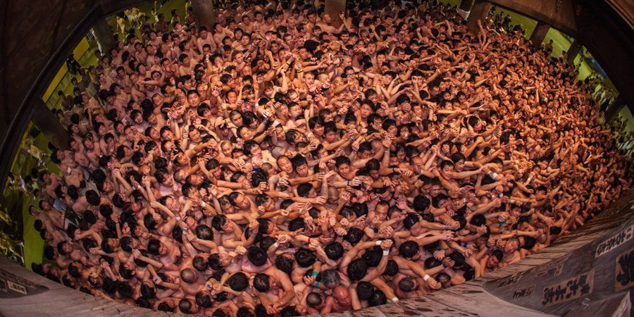 Saidaiji Temple Naked Festival Takes Place