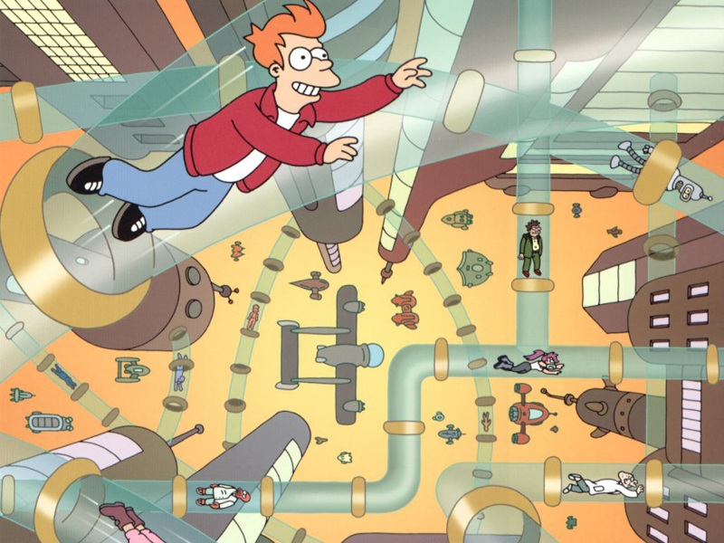 4_tube transportation system from Futurama