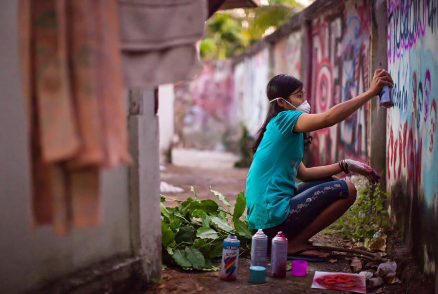 5_Buddhist monks Street Art