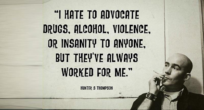 2.Hunter S. Thompson drugsjpg