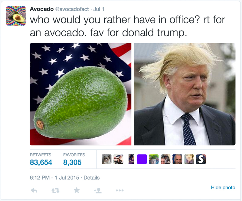 2_Avocado vs donald trump