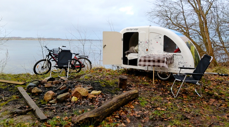 2_ expandable bike trailer mobile home
