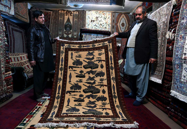 3_Afghan weavers silent protest