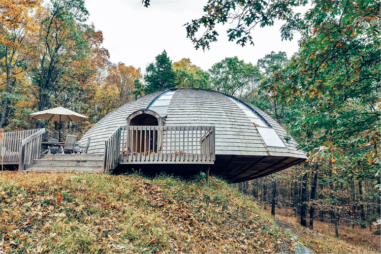 7_spinning eco-home in the forest