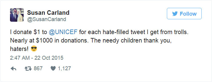8_donating 1 DOLLAR to UNICEF hate tweet