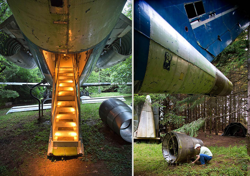 2_abandoned airplane house pacific woods