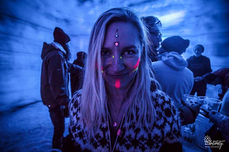 6_party inside a glacier Iceland