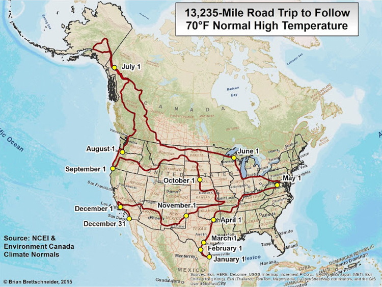 2_ ideal North American road-trip for an endless summer