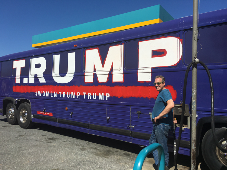 2_Artists Are Using Trump's Old Bus to Redefine His Brand