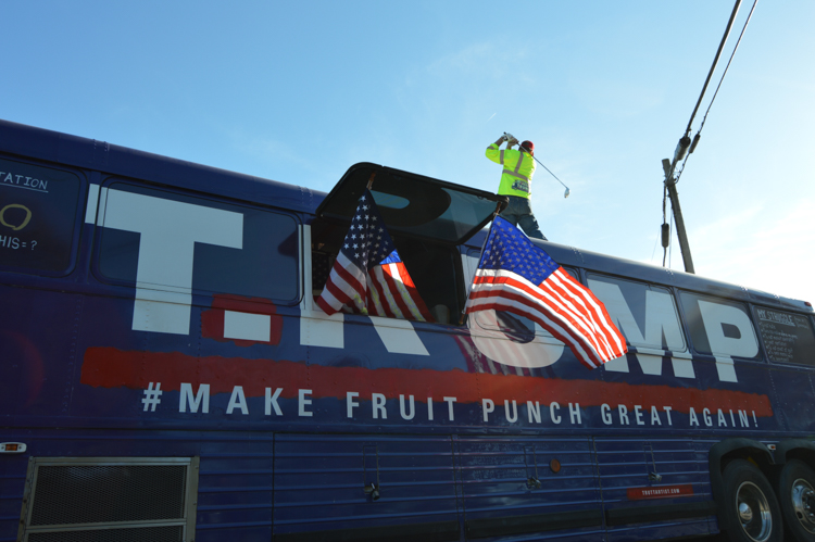 6_Artists Are Using Trump's Old Bus to Redefine His Brand