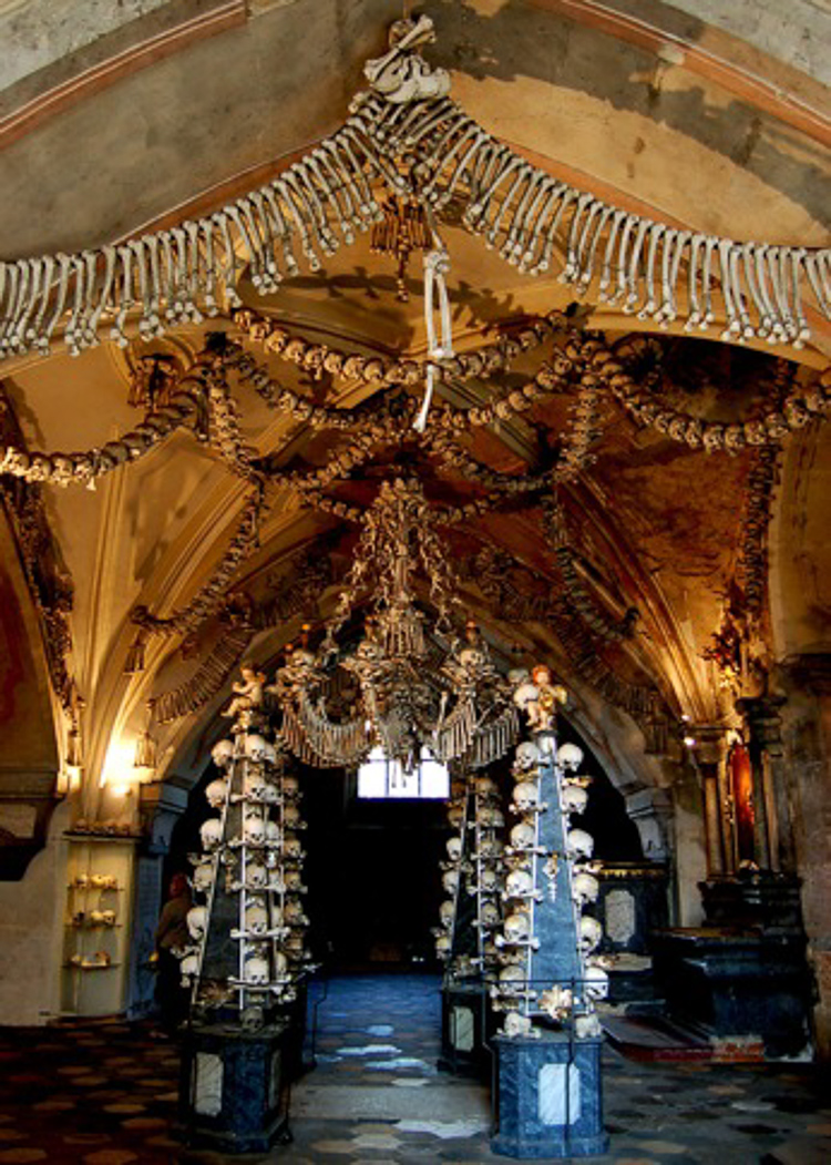 2_church is decorated with over 40,000 human skeletons