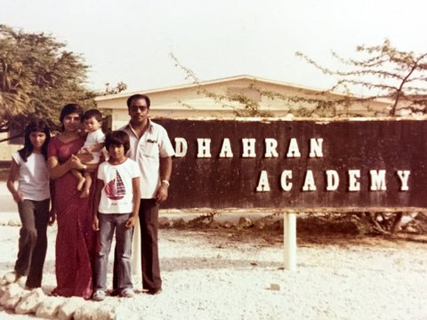 I went back to India after Grade 8. In India I was different because I had an American accent, didn't speak our language, and only knew the American curriculum. We were known as ABCD's: Arabian-Born-Confused-Desis.